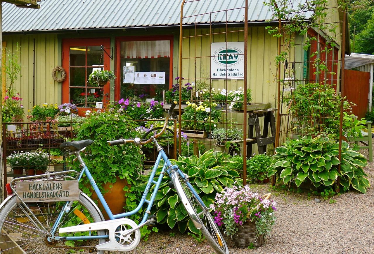 Bäckdalens Handelsträgård and Café Orangeriet,Bjäre-peninsula